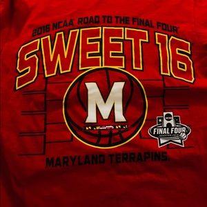 Maryland TerrapinsRed 2016NCAA Sweet16 Tee ShirtSM